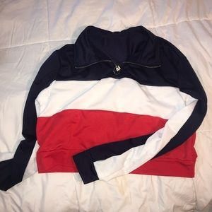 Tops - Striped cropped long sleeve